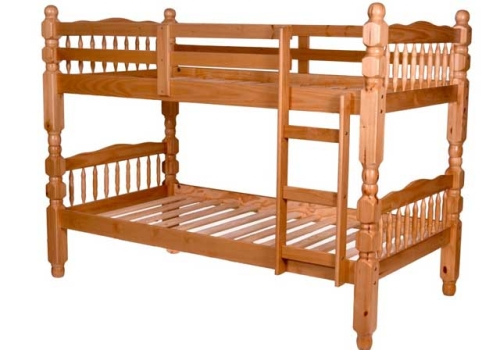 Kidz Collection Twin/Twin Solid Wood 3″ Spindle Post Bunk Bed