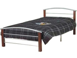 IF-127-Modern-Bed-with-Slats-and-Wood-Posts-by-Worldwide-Mattress-Outlet