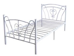 IF-152-White-Bed-with-Slats-by-Worldwide-Mattress-Outlet