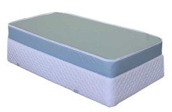 LC-Vinyl-Crib-#left-side-by-Worldwide-Mattress-Outlet