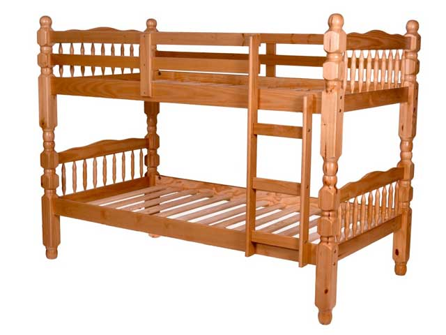 Twin Over Solid Wood 4in Bunk Bed
