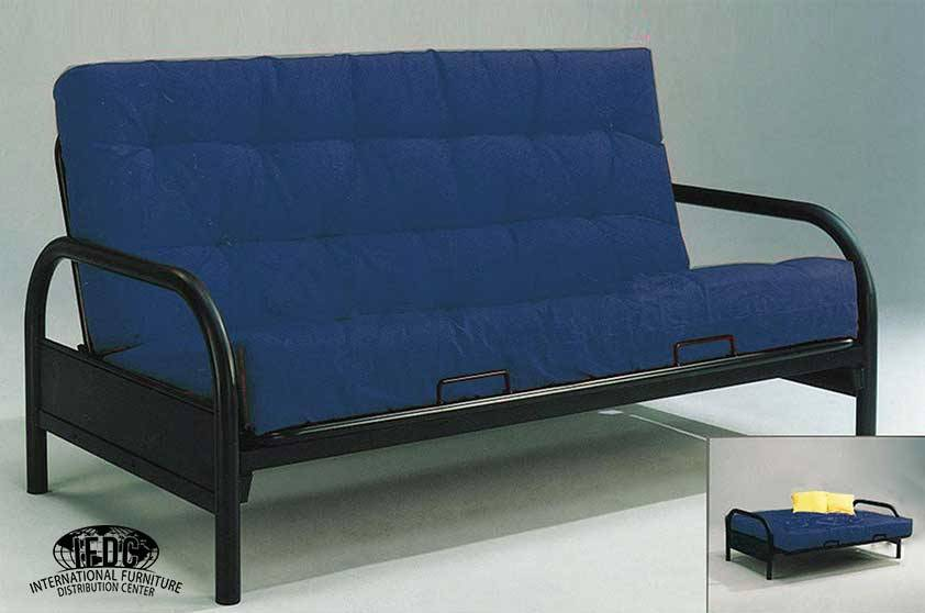 Basic Black Metal Futon Frame