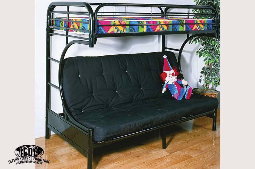 Black Metal C Futon Bunk Bed