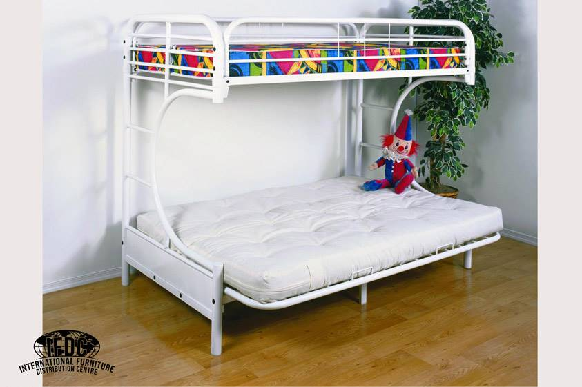 Metal White C Futon Bunk Bed